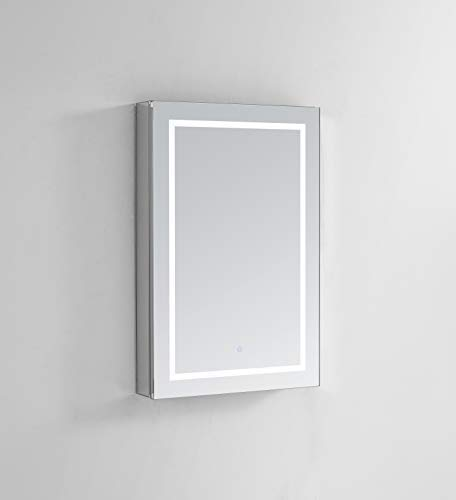 AQUADOM Royale Plus, 24in x 36in x 5in Right Hinge, LED Medicine Cabinet, Automatic Defogger, Touch Screen Button, Dimmer, Electrical Outlet