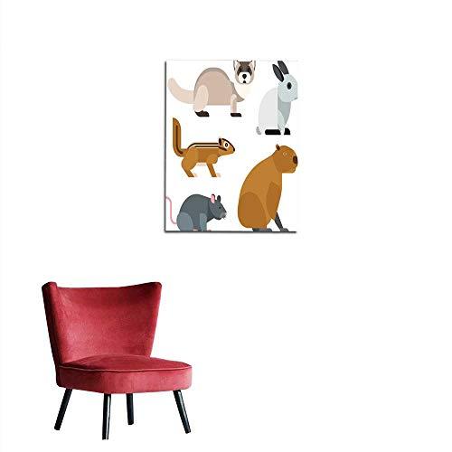 (longbuyer Wallpaper Cartoon Rodents Animals Vector Set Mural)