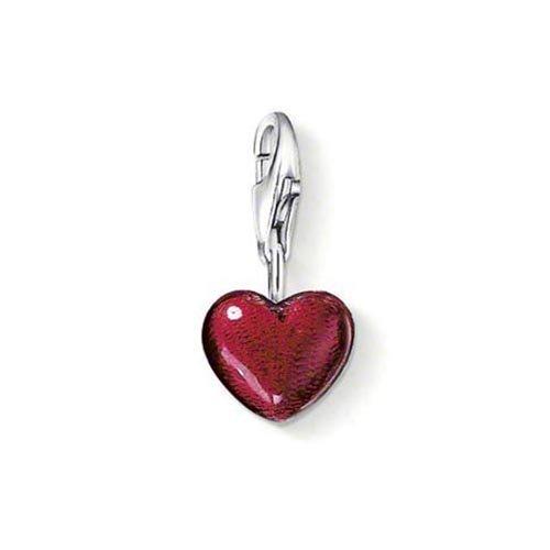 Thomas Sabo Women-Charm Pendant Heart Charm Club 925 Sterling silver red 0794-007-10
