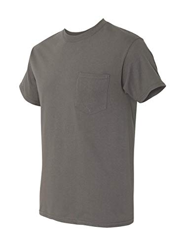 By Gildan Adult Heavy Cotton 53 Oz Pocket T-Shirt - Charcoal - M - (Style # G530 - Original Label)