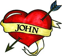 John Heart Temporary Tattoo