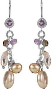 Set-Freshwater Cultured Pearl /& Multi-Gemstone Earrings