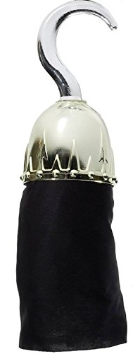 Forum Novelties Unisex-Adults Super Deluxe Pirate Hook, Silver, Standard -