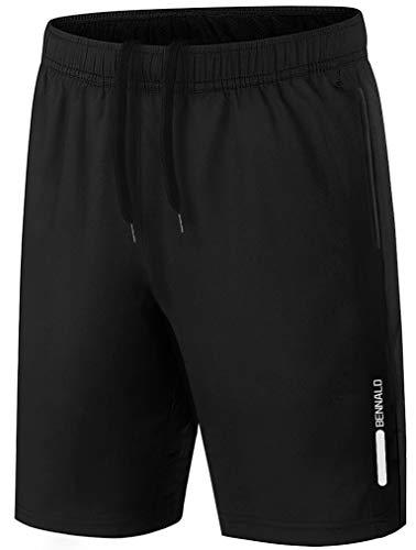 BENNALD Shorts heren sport sportbroek korte joggingbroek korte broek trainingsbroek mannen sneldrogende loopbroek…