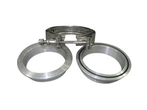 3 Inch Turbo V-Band Clamp x1 , Downpipe Flange Aluminum x2
