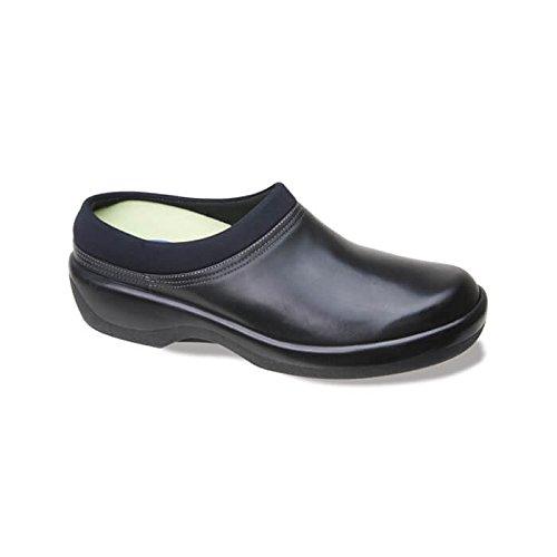 Cheap Aetrex Women's Ambulator Biomechanical Clog Diabetic Shoes,Black Leather,9.5 M US