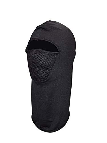 Rising Phoenix Industries Black Balaclava Hood Mask, Outdoor Sports Neck Warmer w/Mesh Face, Ninja Costume for $<!--$14.95-->