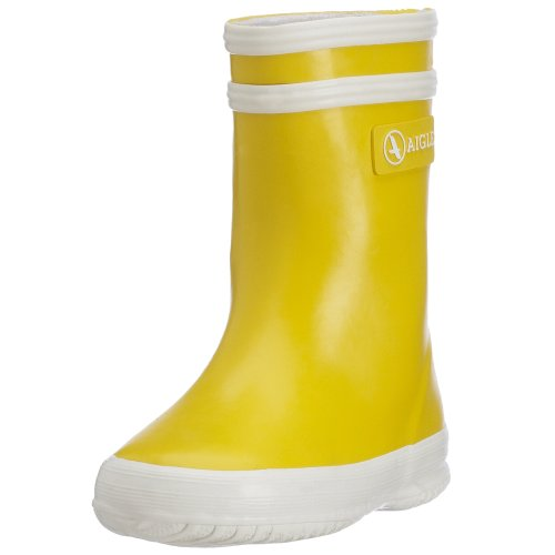 Aigle Unisex Baby Baby Flac (Inf/Tod) - Yellow/White - 19 EU (3 US) by Aigle