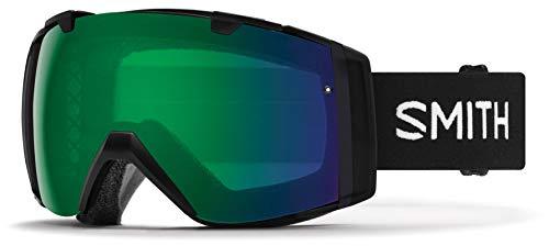 Smith Optics I/O Adult Snow Goggles - Black/Chromapop Everyday Green Mirror