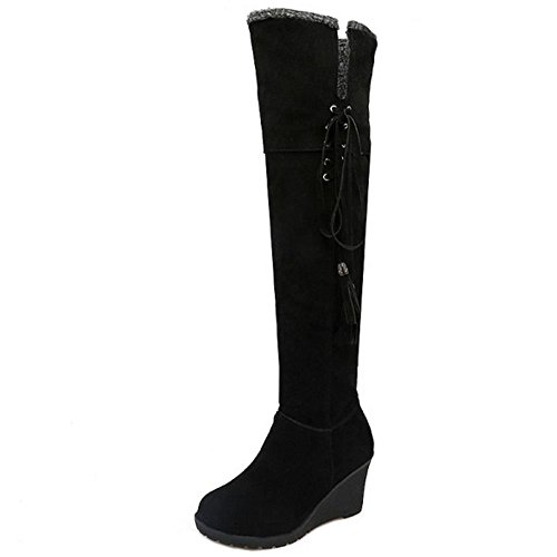 COOLCEPT Damen Stiefel Pull-on Black
