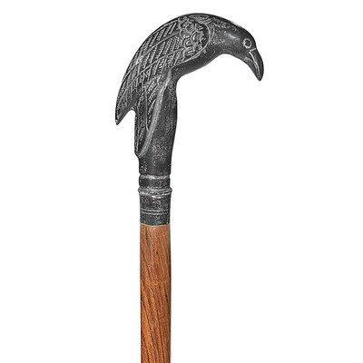 - Design Toscano Edgar Allen Poe's Mystic Raven Gothic Walking Stick Swagger Cane, 37 Inch, Black