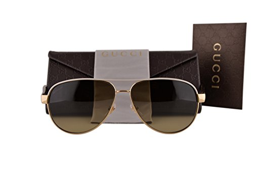 Gucci GG4239/S Sunglasses Ivory Gold Havana w/Brown Gradient Lens BOAED GG 4239/S For - Sunglasses 62mm Retro Gucci