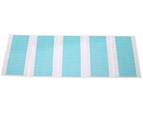 60 Stk Pre-Cut Doppelseitige Klebeband Blue-Tape für Haut & Haar-Verlängerungen