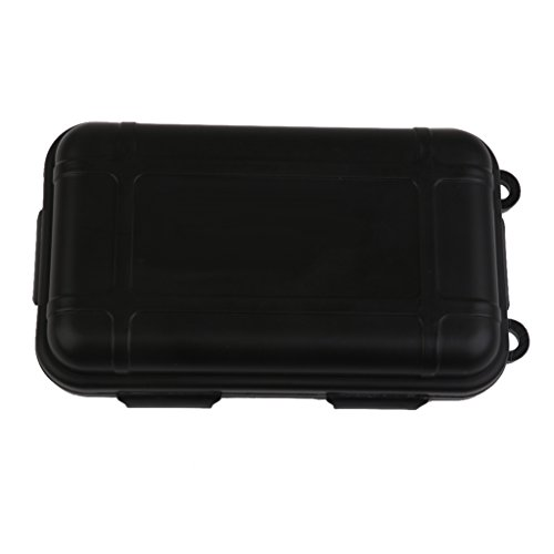 Outdoor Plastic Waterproof Airtight Survival Case Container Storage Carry Box Small New - Black (Waterproof Small Container compare prices)