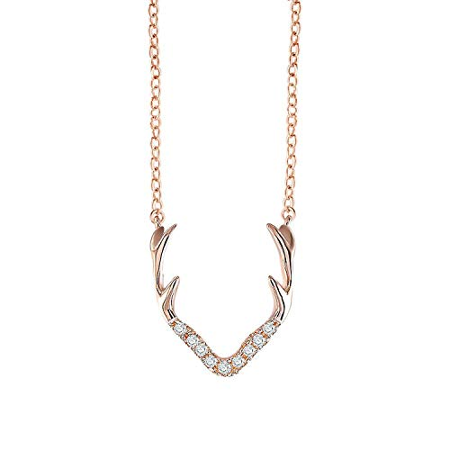 Tianshui Store Pendant Necklace Women Girl Rose Gold/Silver Chain Necklace Crystal Jewelry ()