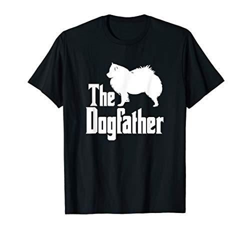 The Dogfather T-Shirt, American Eskimo Dog silhouette, - Eskimo American Breeder