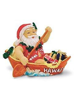 Island Heritage Canoeing Santa Ornament -