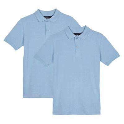 Debenhams Children's Pack of Two Blue Slim fit School Polo Shirts