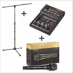 mix5–Bundle con trípode y micrófono