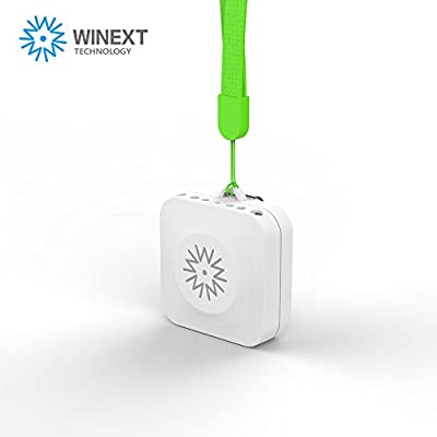 Winext Portable Personal Air purifier, Negative ion, Mini Ifresh Personal Ionic Air Purifier, Necklace Ionizer ,USB Rechargeable. Removes Cigarette Smoke, Bacteria, Unbearable Odor, Removes Bad Smells. Minimize the Risk of Bird Flu, Avian Influenza. White