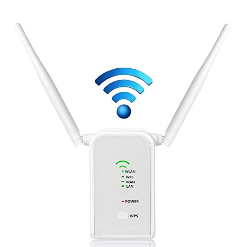 - WiFi Range Extender, Agret Signal Booster New 300Mbps Wireless Network Repeater 2.4GHz Access Point with Dual Strong Antenna Full Coverage (White)