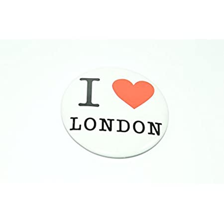 Libby's Market Place Set of 5 ' I Love London ' White Pin Button Badges 31rCGAHdM8L