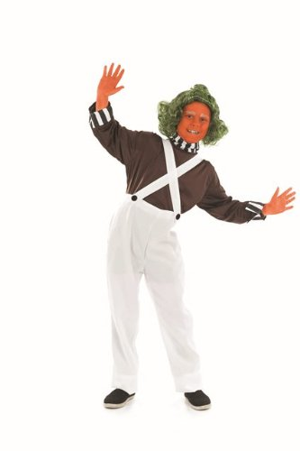 Oompa Loompa Childs Fancy Dress Costume - XL 58inch Height