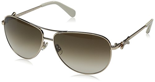 Kate Spade Women's Circe 2S Non-Polarized Aviator Sunglasses, Light Gold/Brown Gradient, 59 - 130 Kate Sunglasses Spade
