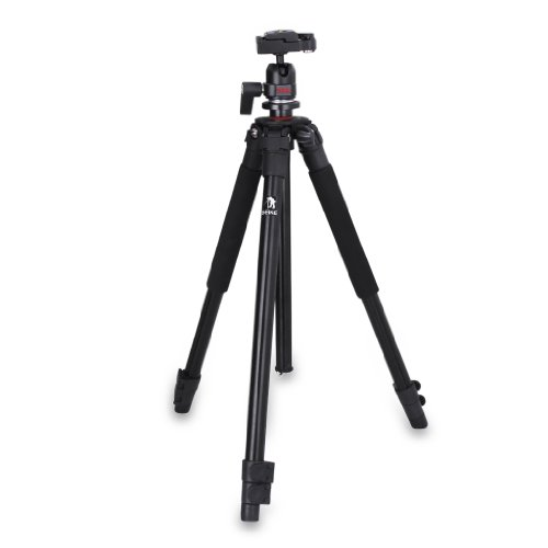 "2014 New Beike Pro 60"" Photo/Video Camera Tripod for DSLR Canon Nikon Samsung Panasonic Kodak Fuji Sony Olympus Camera up to 5.0Kg+Carrying Case with Shoulder Strap"