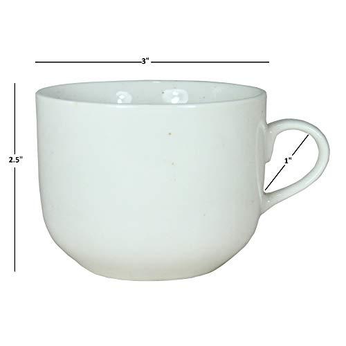 FloraCraft Set of 6 Coffee Mugs White