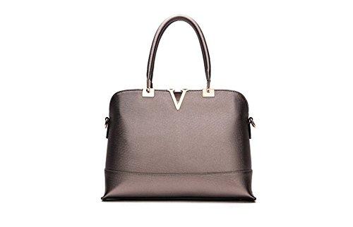 New Winter QCKJ-Lorenz-Borsa a tracolla da donna in ecopelle, colore: grigio