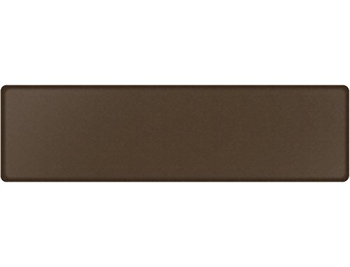 "GelPro Classic Anti-Fatigue Kitchen Comfort Chef Floor Mat, 20x72"", Vintage Leather Rustic Brown Stain Resistant Surface with ½"" gel core for health & wellness by GelPro (Image #1)"