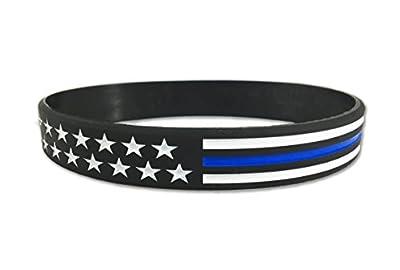 Thin Blue Line American Flag Bracelet