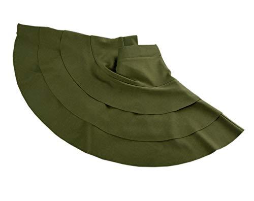 2637de5d4b Afibi Stretchy Flared Ruffle Layered Mini Skater Skirts for Women ...