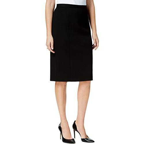 (Kasper Womens Ponte Knit Pencil Pencil Skirt Black 18)