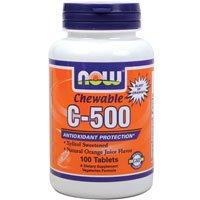 Now Foods Vitamin C-500 Chewable, 100 Lozenges ( Multi-Pack)