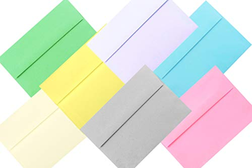 - Pastel Color Selection 100 Boxed A7 (5-1/4 x 7-1/4) Envelopes for 5 X 7 Cards Invitations Announcements from The Envelope Gallery