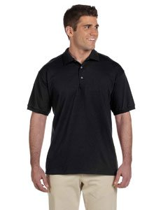 (Gildan 6.1 oz. Ultra Cotton Jersey Polo, Black, L)