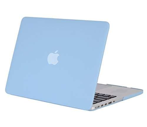 MOSISO Plastic Hard Shell Case Cover Only Compatible MacBook Pro (W/O USB-C) Retina 13 Inch (A1502/A1425) (W/O CD-ROM) Release 2015/2014/2013/end 2012, Airy Blue