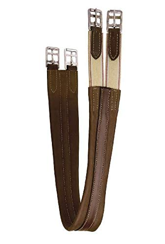 Tory Leather Contour English Girth with Elastic at One End - Oakbark, 50
