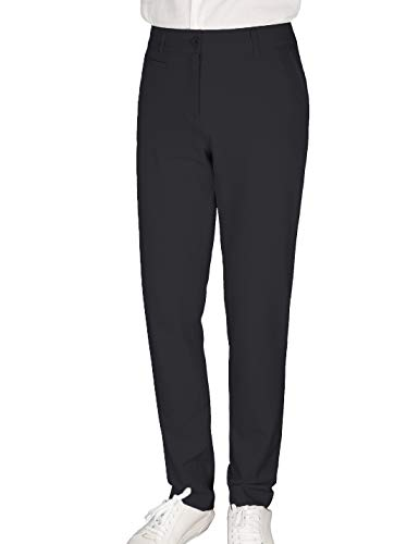 Women's Golf Pants Stretch Straight Lightweight Breathable Chino Pants Size 4 Black