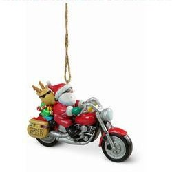Cape Shore Santa and Reindeer Riding a Motorcycle Christmas Holiday - Santa On Motorcycle