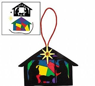 12 Nativity Silhouette Foam Ornament Craft Kits