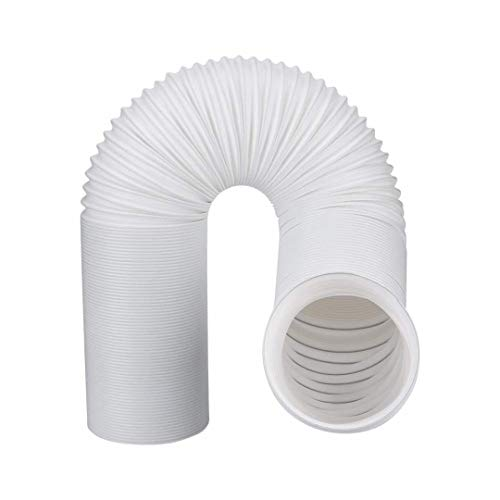 Portable Air Conditioner Exhaust Hose with Tension clamp | 5 inch Flexible Hose | 59 inch Length | Universal Replacement | Counterclockwise ()