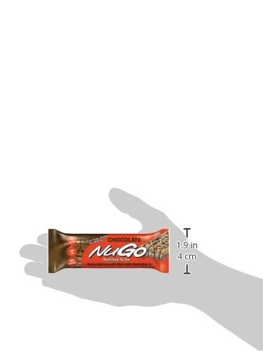 NuGo Protein Bar, Chocolate, 1.76-Ounce Bars (Pack of 24)