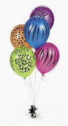 Neon Animal Print Balloons (150 pcs)