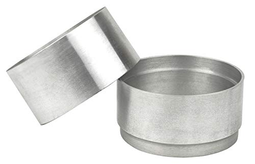 (Sand Casting Petrobond Quick Cast Aluminum 2-Piece 100 MM Round Mold Frame for Precious Metal Melting Sand Casting)