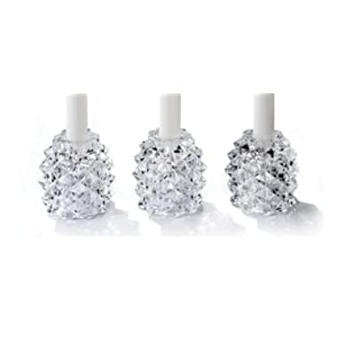 Fifth Avenue Crystal Pinecone Glass Pillar Holder, Set of 3