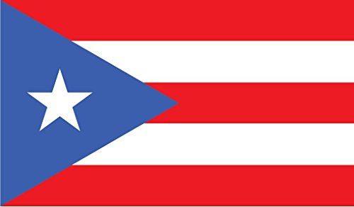 o Rico Flag Vinyl Decal Sticker Boricua Puerto Rican Car Window Bumper 2-Pack 5-Inches by 3-Inches Premium Quality UV-Resistant Laminate PDS513 ()