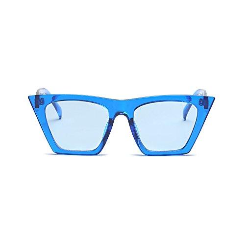 Moda Gafas UV400 F Hombre Diseñador de Ojo de C Mujer de Cuadrado Marco Transparente Marca Gato Gafas Acetato de Lente de Sol Burenqi RInv1dYqwI